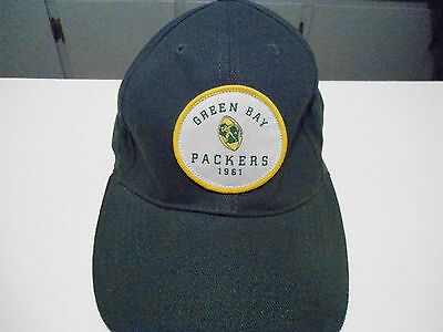Green Bay Packers NFL Football Budweiser Hat Cap Med Retro 98% cotton 2% spandex