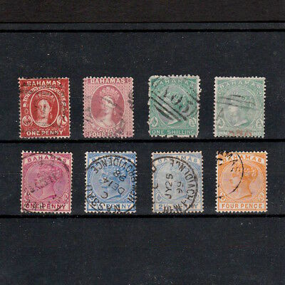 Bahamas Selection Of Queen Victoria Stamps Including Chalons Types (8)