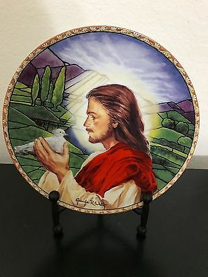 Prince Of Peace Ceramic Plate No. 4299A By Jennifer Welty