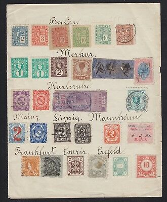 Germany Austria & British Commonwealth Selection Of Locals & Revenue Stamps