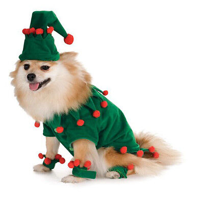 Pet Elf Costume - Holiday Wear - 4 sizes - Santa's Helper Christmas fnt