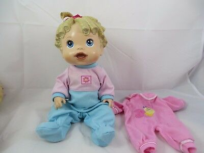 Baby Alive Doll Baby All Gone Interactive Talking French Molded Blonde Hair Work
