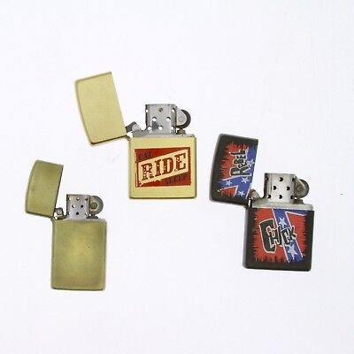Lot of 3 Vintage Zippo Lighters.