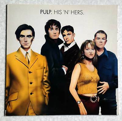 "PULP ""HIS 'N' HERS"" 12"" VINYL LP RECORD (UK 1st PRESSING WITH ART PRINT, 1994)"
