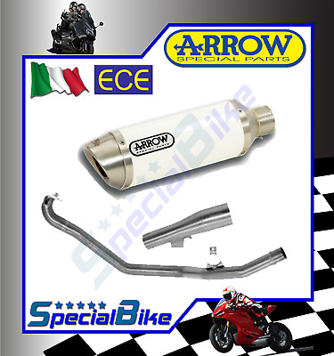 Scarico Completo Honda Integra 750 Dct 2014 > Arrow Race Tech White Inox Euro 4