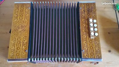 Accordéon diatonique Hohner 29/15 C/F Do/Fa