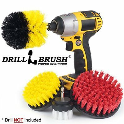 Drill brush Scrub Brush Drill Attachment Kit - Drill Powered Brush by Drillbrush