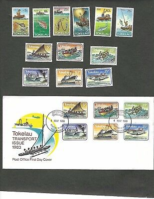 TOKELAU sc#85-96 (1982-3) COMPLETE MNH  + #91-6  FDC