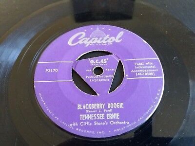 Tennessee Ernie - Blackberry Boogie / Tennessee Local - Capitol - F2170 - Tri