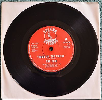 "Rare-Nottingham Forest FC 1979 song 'Come On The Forest' by the Fans.7"" vinyl."