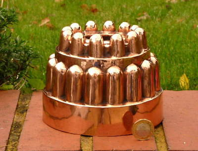 VICTORIAN ANTIQUE COPPER JELLY MOLD in SUPERB CONDITION