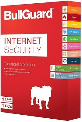 BullGuard Internet Security 2017 1 Year, 1 PC  (NO CD) Download Latest Version