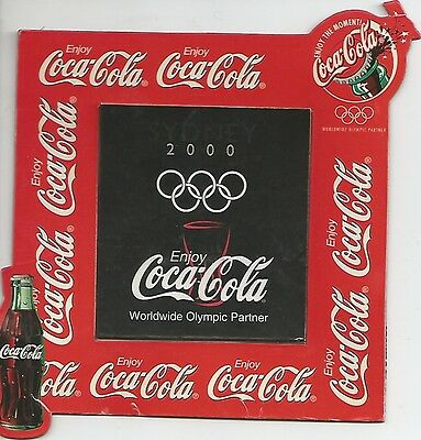 coca cola : SYDNEY OLYMPIC GAMES -  a two parts  fridge magnet , 2000.