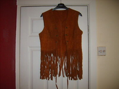 Vintage mid-60's tassled Ladies waistcoat, possibly a size 10 or so