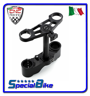 Ducati 1098 2007 > 2008 Set Piastre Di Sterzo Cnc Racing Ergal Triplo Clamp