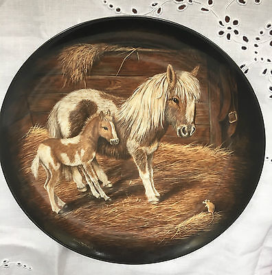 Kaiser Stable Door Collector Plate Dick Twinney The Visitor Mare & Foal Vgc