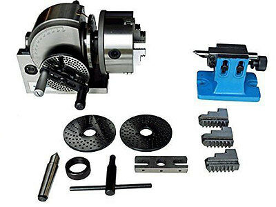 """Bs-1 Dividing Head Set W 6"""" Chuck & Tailstock For Milling Machine 5 Yr Warranty"""