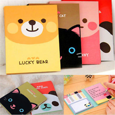 1Pc Portable Cute Cartoon Paper Diary Notepad Memo N Post Sticky Notebook