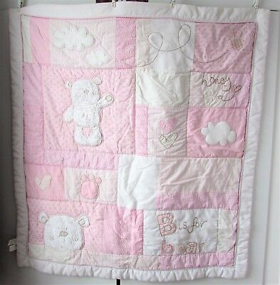 Obaby - B is for Bear Baby Quilt / Blanket - Age 12 months plus - good condition