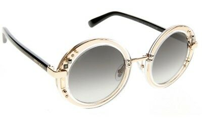 ad9c9dbc340 JIMMY CHOO BELLA Black Gradient Square Sunglasses Gold Chain Crystal ...