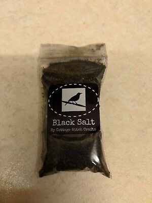 Witch's Black Salt - For Protection, Banishing, and Ritual Use (15g bags)