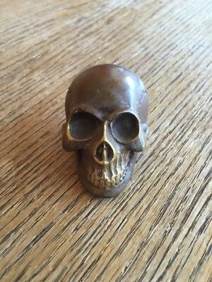 Skull Shifter Knob Harley Hot Rod Shift Handle Brass Skeleton Hand Rat  Bobber
