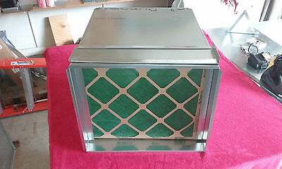 Return Air Duct Plenum With 1 Inch Filter Rack 21. X 21.5 X 23.5 Long 1/2 Liner