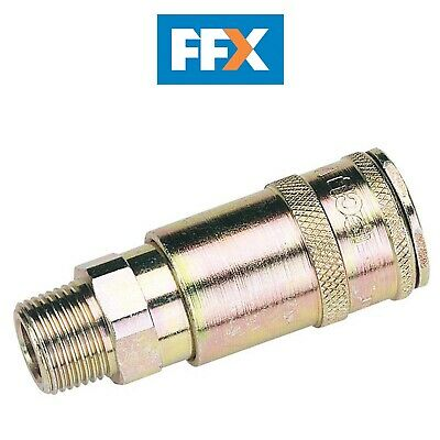 "DRAPER 51408 3/8"" BSP Taper Male Thread Vertex Air Coupling (Sold Loose)"