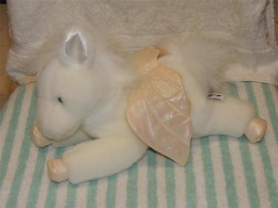 "Aurora Plush Winged Horse Pegasus Shiny Wings Stuffed 12"" Long"