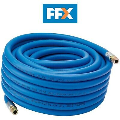 "DRAPER 38332 15M 1/4"" BSP 8mm Bore Air Line Hose"