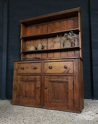 Stunning Large Victorian Antique Country Farmhouse Dresser