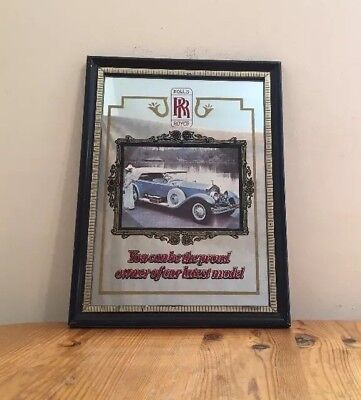 Vintage Rolls Royce Decorative Mirror