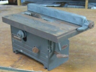 Older Craftsman Small 7-in. Table Saw, approved by Dunlap