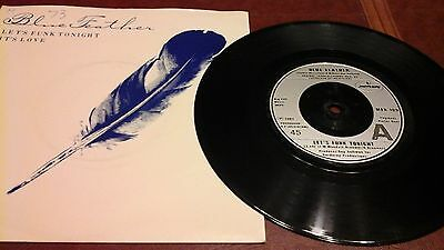 """BLUE FEATHER 7""""single LET'S FUNK TONIGHT 1981"""