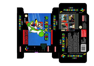 Super Mario World (Español) (Snes) (Caja + Interior) (Only Box)