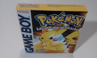 Pokemon Amarillo (Español) (Game Boy) (Caja + Insert) (Only Box)
