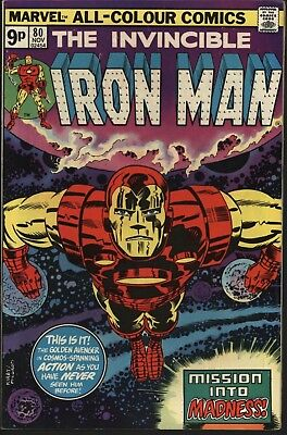 Iron Man #80 Classic Jack Kirby Cover! Glossy Original Owner Copy White Pages