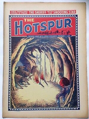 DC Thompson. THE HOTSPUR Wartime Comic. May 10th 1941 Issue 402