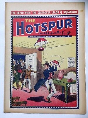 DC Thompson. THE HOTSPUR Wartime Comic. June 7th 1941 Issue 406.