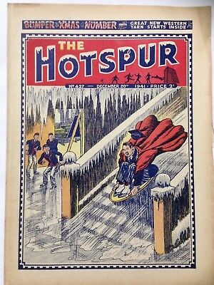 DC Thompson. THE HOTSPUR Wartime Comic. December 20th 1941 Issue 427