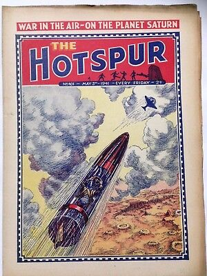 DC Thompson. THE HOTSPUR Wartime Comic. May 3rd 1941 Issue 401.