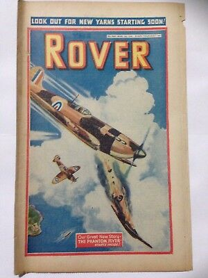 DC Thompson. THE ROVER Wartime Comic. March 1st 1941 Issue 985 *FREE UK POSTAGE*