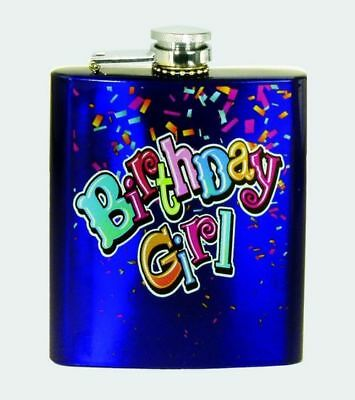 Birthday Girl Confetti Design Stainless Steel Flask Happy Birthday Gift