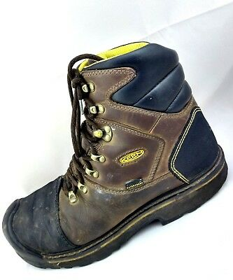 "KEEN Utility Milwaukee 6"" Steel Toe Waterproof Brown Work Boots Mens Size -11M"