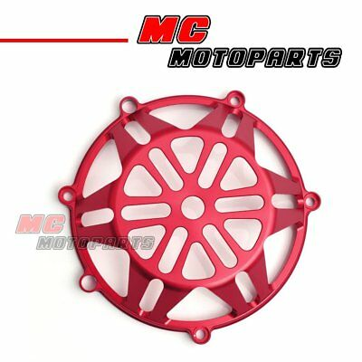 Red For Ducati Open Billet Clutch Cover 748 999 1098 1198 S R 916 998 CC21