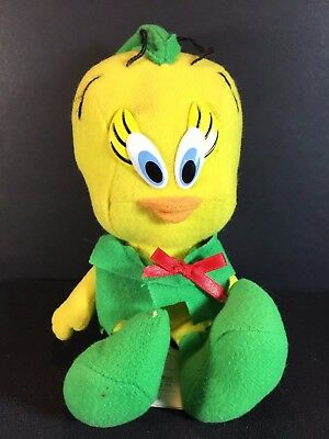 McDonalds Looney Tunes TWEETY BIRD Plush Warner Bros - 1992 Christmas Elf