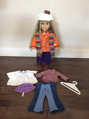 American Girl Doll Julie With Meet And Fall Outfit 2008