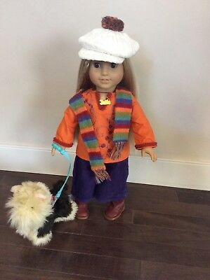 American Girl Julie's Fall/Dog Walking Outfit & DOG (retired)
