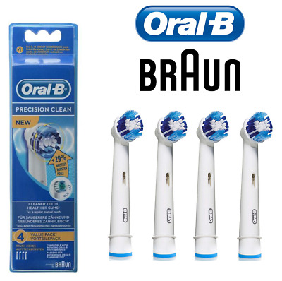 Braun oral b electric toothbrush heads replacement precision clean 1,2,4,8
