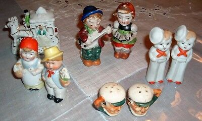 Vintage Salt & Pepper Shakers Lot Musical Couple Sailor and more Made in Japan